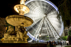 Danubius Fountain and Sziget's Eye, Budapest, Hungary Stock Image