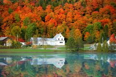 Danville Vermont church. From Joes pond stock photography