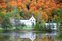 Danville Vermont church. From Joes pond Royalty Free Stock Images