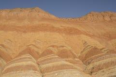 Danxia地形在张掖,中国 库存图片
