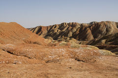 Danxia地形在张掖,中国 免版税图库摄影