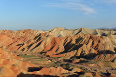 Danxia地形 库存图片