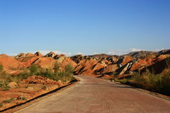Danxia - Colorful Mountains Royalty Free Stock Photo