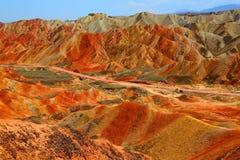 Danxia Geologisch Park, Zhangye, Gansu-Provincie, China royalty-vrije stock afbeeldingen
