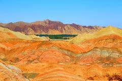 Danxia Geologisch Park, Zhangye, Gansu-Provincie, China stock foto's