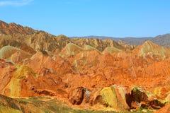 Danxia Geologisch Park, Zhangye, Gansu-Provincie, China royalty-vrije stock foto
