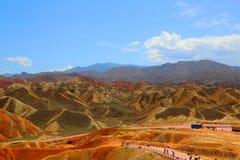 Danxia Geologisch Park, Zhangye, Gansu-Provincie, China royalty-vrije stock fotografie
