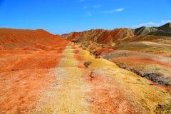 Danxia Geologisch Park, Zhangye, Gansu-Provincie, China royalty-vrije stock afbeelding
