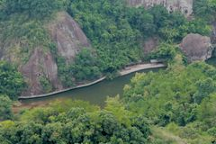 Danxia Geopark nazionale fotografia stock