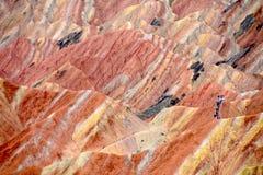 Danxia Krajowy Geological park przy Zhangye, Chiny obraz stock