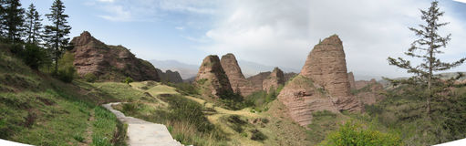 Danxia landform-0 Stock Photos