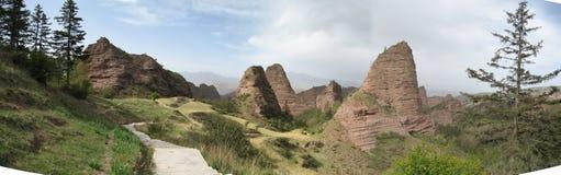 Danxia landform-0 Photos stock