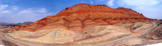 Danxia landform-2 Royalty Free Stock Photography