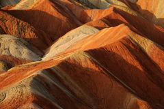 Danxia landform. In Zhanye,Gansu,China Royalty Free Stock Photos