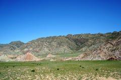 Danxia landform Arkivbild