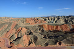 Danxia landform. It is a beautiful  danxia landform Stock Images