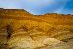Danxia landform. In the blue sky Photo was taken on:2014.08.27 Stock Photo