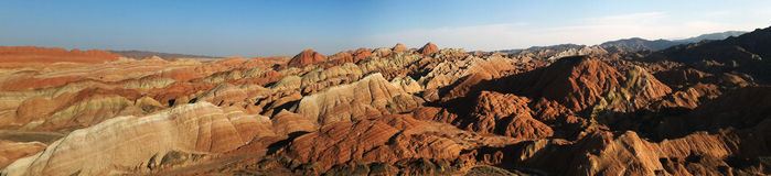 Danxia landform Royalty Free Stock Photography