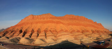 Danxia landform. Cheltenham Badland,nepheline landforms, formed in China, rocks Royalty Free Stock Image