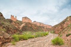 Danxia landform Royalty Free Stock Image