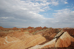 Danxia landform in gansu zhang ye Royalty Free Stock Photo