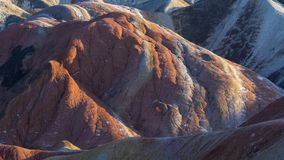 Zhang Yu colorful Danxia. The Danxia landform group in Zhangye, Gansu, China, commonly known as the `The Danxia landform group in Zhangye, Gansu, China, commonly royalty free stock image