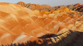 Zhang Yu colorful Danxia. The Danxia landform group in Zhangye, Gansu, China, commonly known as the `The Danxia landform group in Zhangye, Gansu, China, commonly royalty free stock photo