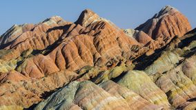 Zhang Yu colorful Danxia. The Danxia landform group in Zhangye, Gansu, China, commonly known as the `The Danxia landform group in Zhangye, Gansu, China, commonly stock images