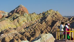 Zhang Yu colorful Danxia. The Danxia landform group in Zhangye, Gansu, China, commonly known as the `The Danxia landform group in Zhangye, Gansu, China, commonly stock photo