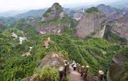 Danxia landform i Guilin, Kina Royaltyfri Fotografi