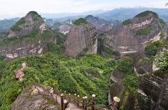 Danxia landform i Guilin, Kina Arkivfoton