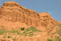 Danxia Landform im kanbula Stockfotos