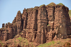 Danxia Landform im kanbula Stockfotografie
