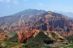 Danxia landform in kanbula Stock Photography