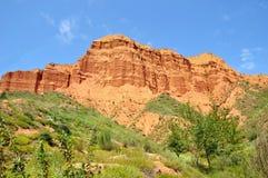 Danxia landform in kanbula Royalty Free Stock Image