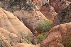 Danxia landform. The landscape of danxia landform in Longzhou, Jingbian, Shannxi, China Stock Photos