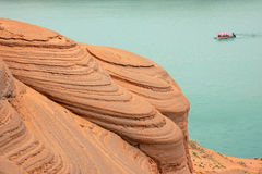Danxia landform. The landscape of danxia landform in Longzhou, Jingbian, Shannxi, China Stock Images
