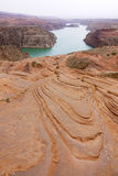 Danxia landform. The scenery of danxia landform in Longzhou, Jingbian, Shannxi, China Stock Photos