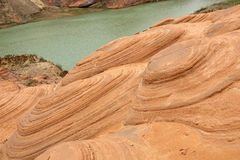 Danxia landform. The scenery of danxia landform in Longzhou, Jingbian, Shannxi, China Stock Photography