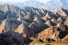 Danxia landform w Zhangye Fotografia Stock