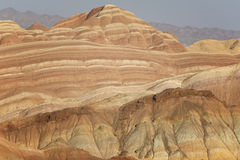 Danxia landform in Zhangye Stock Photo
