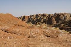Danxia landform in Zhangye, China Royalty Free Stock Photography
