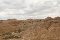 Danxia landform. In Zhangye city,China Royalty Free Stock Images