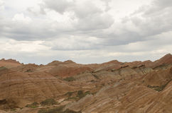 Danxia landform. In Zhangye city,China royalty free stock photos