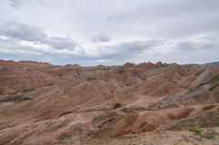 Danxia landform. In Zhangye city,China Royalty Free Stock Photography