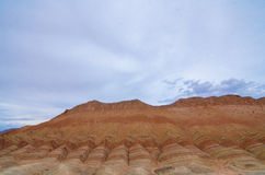 Danxia landform. In Zhangye city,China stock photo