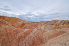 Danxia landform. In Zhangye city,China stock photos