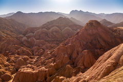 Danxia landform in Zhangye Stock Images