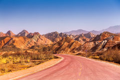 Danxia landform in Zhangye. Colorful mountain in Danxia landform in Zhangye, Gansu of China Stock Image