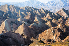 Danxia landform in Zhangye Stock Photography